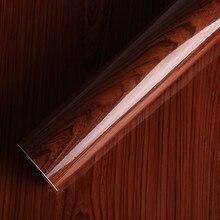 Яркие для дерева виниловая пленка 30 см x 300 см Декор салона автомобиля накидка для мебели виниловая пленка украшения/защита/водостойкий 12 «x 118»