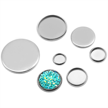 200X Steel Stainless Metal Pendant Tray/Blank Connector with inner 8-16mm Bezel Setting Tray for Cameo Cabochons 20pcs 12mm heart inner size stainless steel material simple style cabochon base cameo setting charms pendant tray t7 41