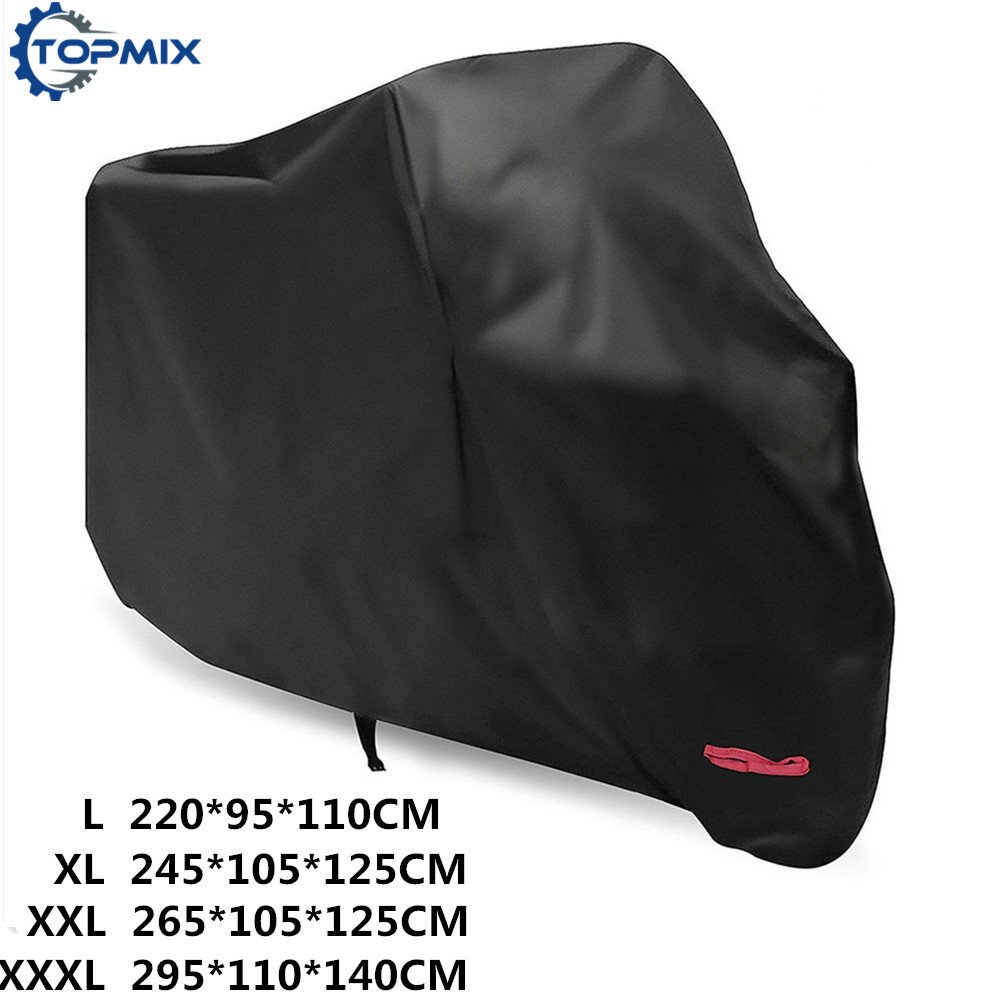 New Waterproof Motorcycle Cover With Anti-Theft Lock Holes, All Weather Outdoor Protection 210D Durable & Tear Proof Cover