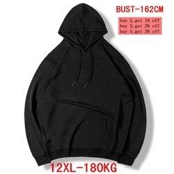 Männer große größe hoodie große größe sweatshirt 5XL 6XL 7XL 8XL 9XL 10XL 11XL 12XL langarm lose warme junge sportswear