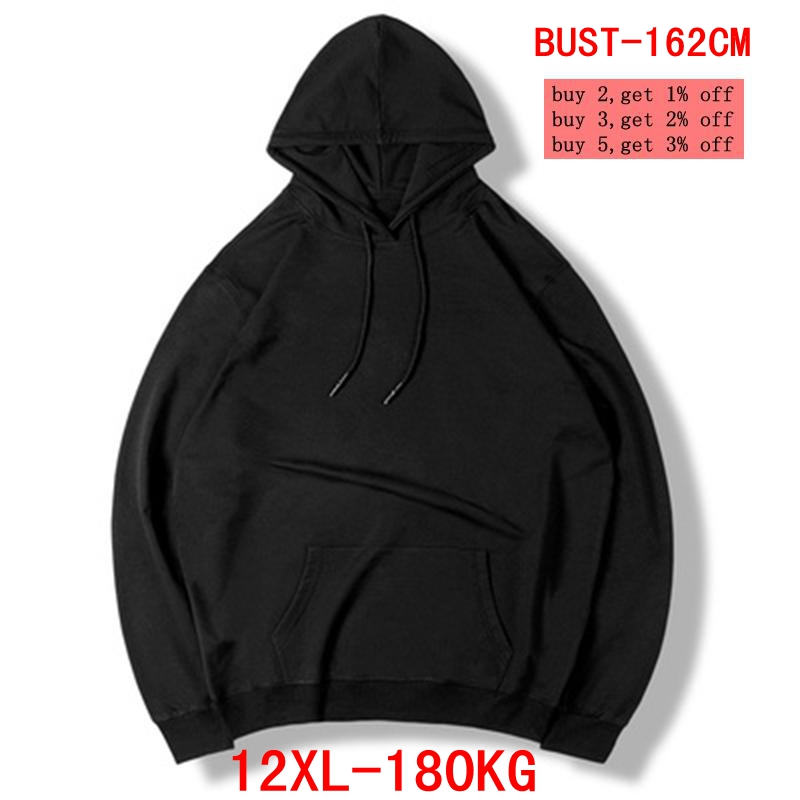 Men's Large Size Hoodie Large Size Sweatshirt 5XL 6XL 7XL 8XL 9XL 10XL 11XL 12XL Long Sleeve Loose Warm Boy Sportswear