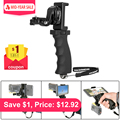 Fantaseal Action Camera Hand Grip Mount + Mobile Phone Clip for Sony AS200V AS300R FD-X3000R SJCAM Gear 360 Stabilizer Holder