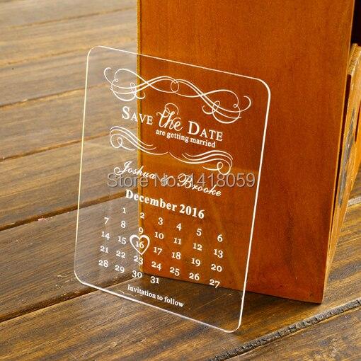 grabado de acrlico mini la fecha de la boda pozo de los