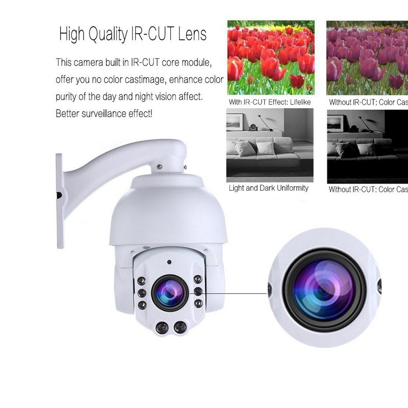 CCTV Security ptz dome ip camera 20x Optical Zoom mini CCTV camera ONVIF protocol ir ip full hd 1080P PTZ IP security camera high quality laser ir 500m ip ptz camera onvif 4 6 165 6mm lens 36x optical zoom for harsh environment security surveillance