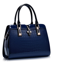 Women Elegant Luxury font b Handbag b font Crocodile Printing PU Occident Style Fashion Large Bag