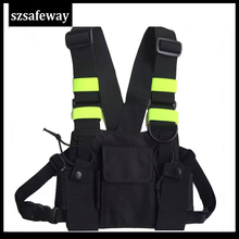 Nylon Harness Two Way Radio Pouch Chest Bag Pack Walkie Talkie Carry Case For kenwood for Baofeng UV 5R UV 82 for Motorola