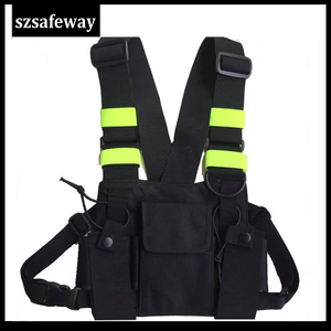 Image 1 - Nylon Harness Two Way Radio Pouch Chest Bag Pack Walkie Talkie Carry Case For kenwood for Baofeng UV 5R UV 82 for Motorola