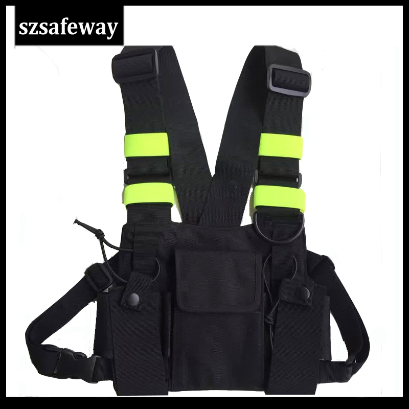 Nylon Harness Two Way Radio Pouch Chest Bag Pack Walkie Talkie Carry Case For Kenwood For Baofeng UV-5R UV-82 For Motorola