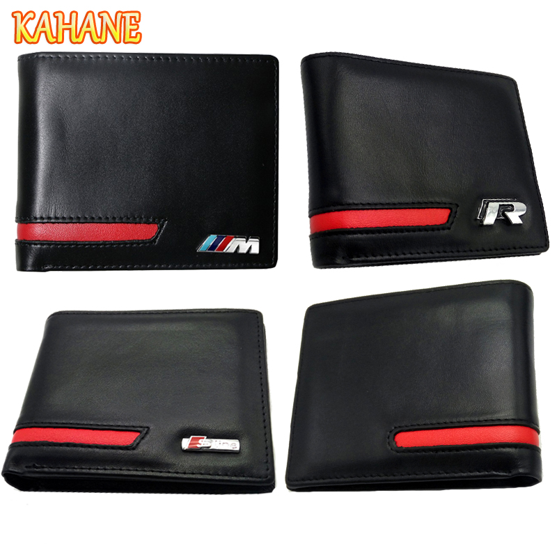 KAHANE Genuine Leather Men Wallet Car Driver License Bag For Audi A3 A4 A5 A6 BMW E46 E90 E39 F10 F30 VW T5 Passat B5 Golf 5 7 amber error free pwy24w pw24w led bulbs for audi a3 a4 a5 q3 vw mk7 golf cc front turn signal lights for bmw f30 3 series drl