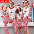 BEKE MATA Family Christmas Pajamas Winter 2016 Family Matching Mother Daughter Clothes Family Look Father Son Clothing Outfits