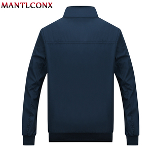 Image 3 - MANTLCONX 2020 New Spring Casual Brand Mens Jackets and Coats Stand Collar Zipper Male Outerwear Men Jacket Black Mens Clothing