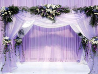 White Sheer Organza Roll Wedding Chair Sash Bow Table Runner Swag Decor