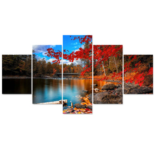 Canvas HD Print Painting Modular Pictures 5 Panel Autumn Nature Landscape Frame Wall Art Poster Modern Home Decor Living Room
