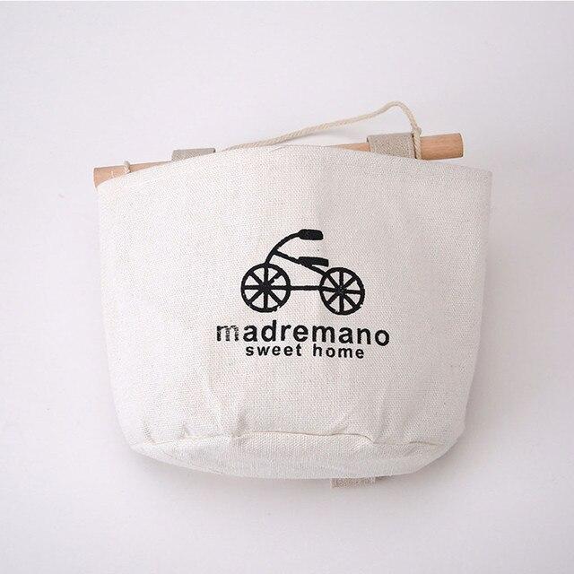 نمط جديد القطن الكتان حقيبة تخزين قابلة للحمل 3 جيوب الحائط خزانة حديقة معلقة الجدار الحقيبة لعب للتجميل المنظم 2020