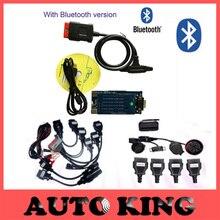 Pánico comprar! mvd ds nuevo vci obd2 herramienta de la exploración con Bluetooth tcs cdp pro plus + 8 cables del coche completo + 8 cables de camiones-NAVE LIBRE de DHL