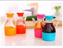 1PCS Kitchen Containers Utensils Leakproof Plastic Lid Oiler Vinegar Sauce Pot Oil Bottle Spice Storage Box Container