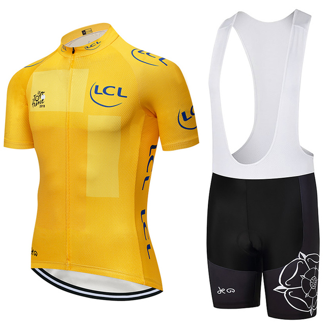 Tour De France 2019 New Team pro cycling jersey 9D Pad bike shorts set men  Ropa Ciclismo bicycling Maillot Culotte wear df4665a08