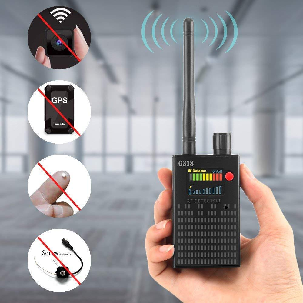 Full Range Pro Anti Spy Bug Detector Wireless Camera Hidden Signal GPS RF GSM Devices Finder Privacy Protect Security