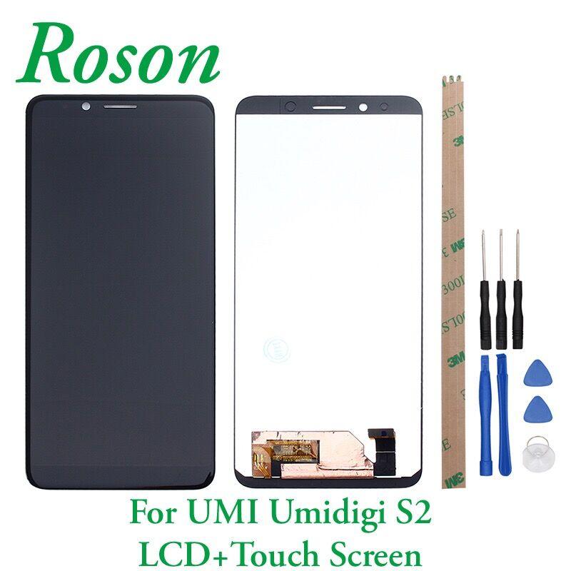 Roson für UMI Umidigi S2 F602517VA LCD Display Und Touch Screen + Rahmen Digitizer Ersatz Für UMI UMIDIGI S2 + werkzeuge + Band