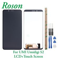 Roson for UMI Umidigi S2 F602517VA LCD Display And Touch Screen +Frame Digitizer Replacement For UMI UMIDIGI S2 +Tools+Tape
