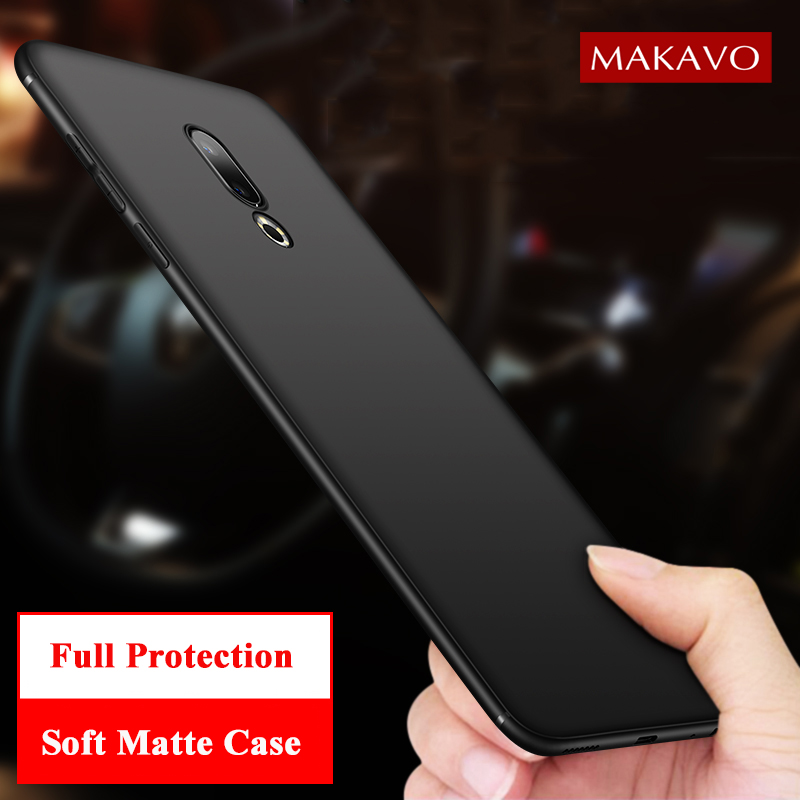 MAKAVO Cover For Meizu 16th Case Full Protection Soft Silicone Matte Phone Cases For Meizu 16 Plus Capa Housing