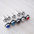 ES041 Crystal Zircon Ear Piercing Jewelry Small Stud Earrings For Men Women Accessories Wedding HOT Selling