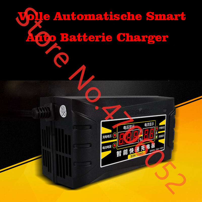 Full Automatic <font><b>Smart</b></font> <font><b>Car</b></font> <font><b>Battery</b></font> Charger12V 10A Lead Acid / GEL <font><b>Battery</b></font> <font><b>Charger</b></font> LCD Display EU / US Plug <font><b>Smart</b></font> Fast <font><b>Battery</b></font> Char image
