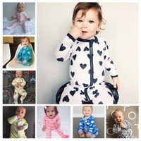 Fashion Newborn Footed Baby Boys Girls Rompers Overalss For Infant Baby Bodysuit Pajama Suit Foot Cover
