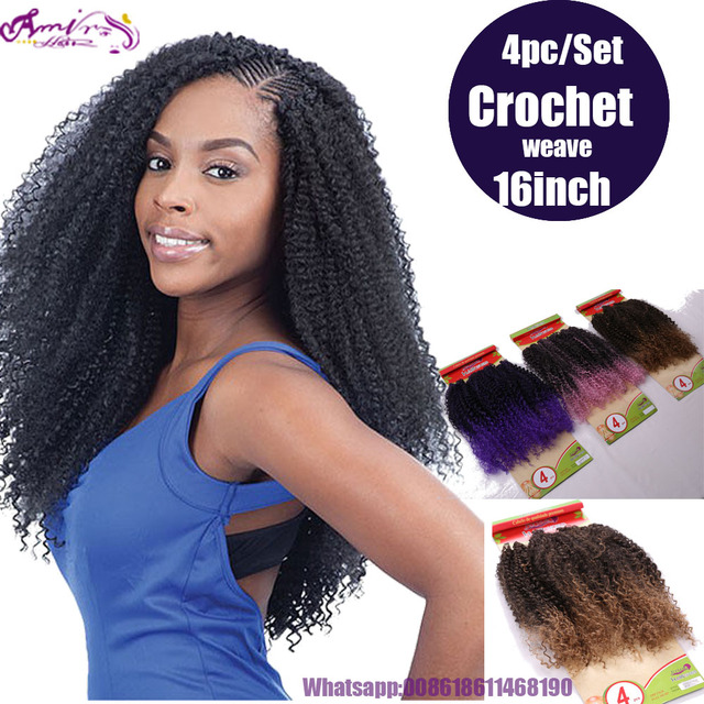 Kinky Synthetic Hair Weaves Heat Resistant Fiber Afro Kinky