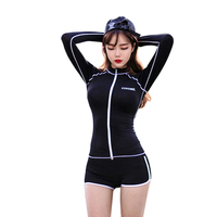Sexy Long Sleeve Rash Guard Three Pieces Swimwear 2016 Hot Diving Suit Wetsuit Surfing Suit Bathing
