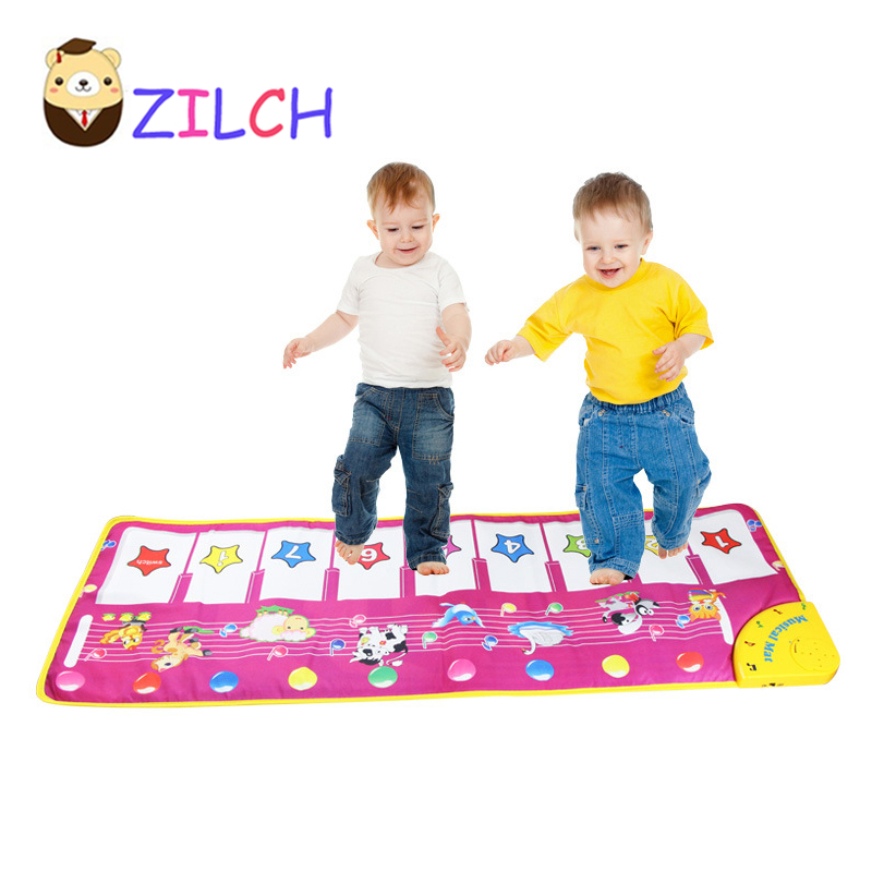 NEW 100x36cm Multifunction Baby Play Crawling Mat Touch Type Electronic Piano Music Game Mats Animal Sounds music game Mat Toys