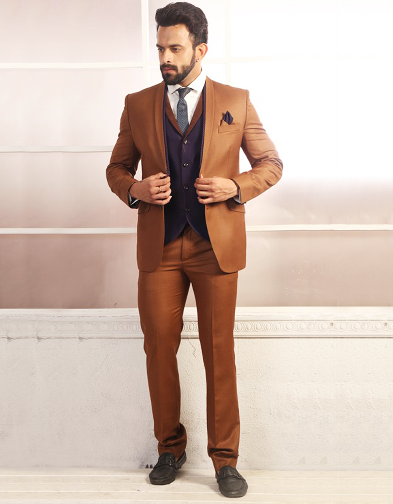 Online Buy Wholesale brown suit men from China brown suit men