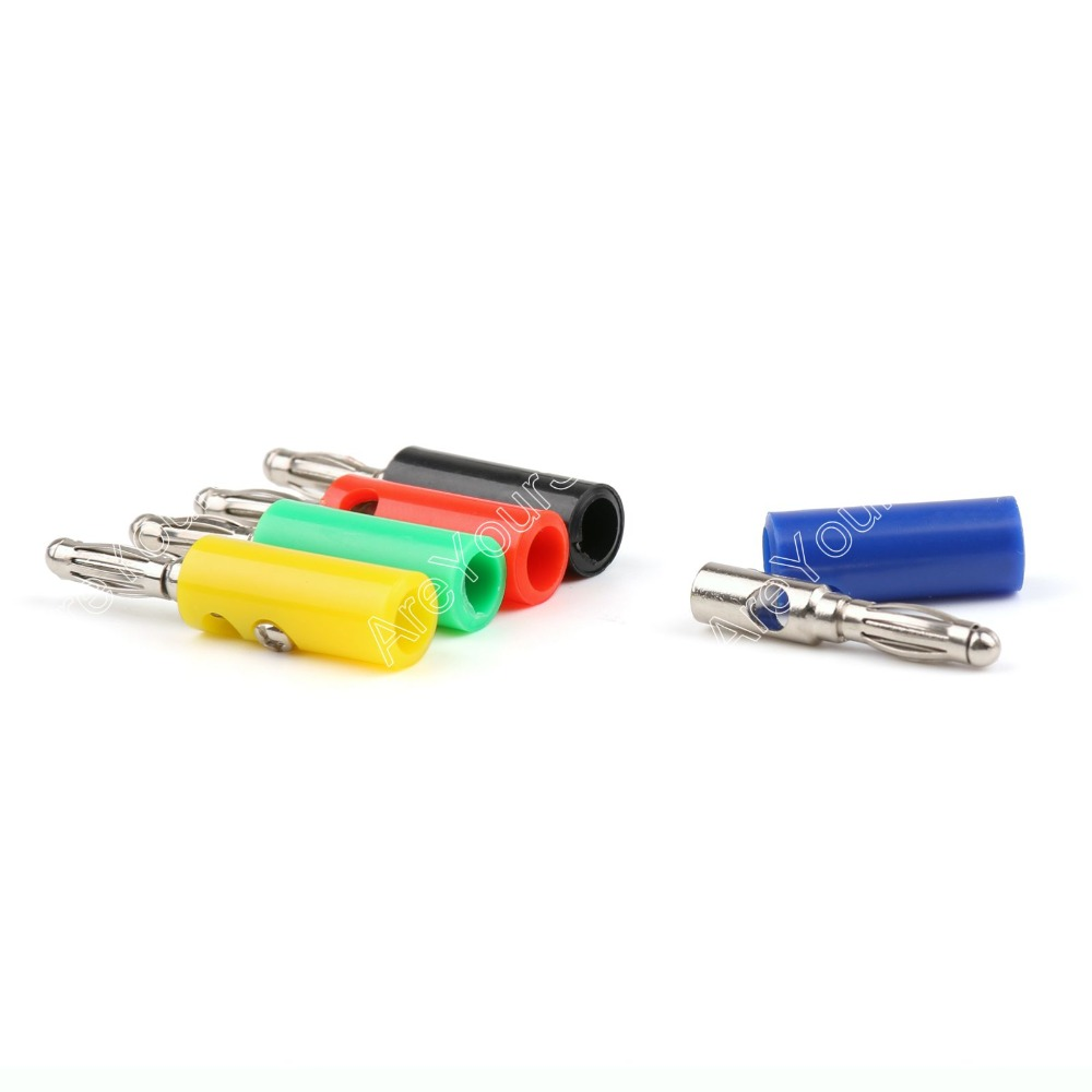 Areyourshop Sale 100 Pcs 4mm Lanterns Banana Plug 5 Color For Power Amplifiers Binding Post areyourshop hot sale 10 pcs 5 color copper 4mm banana plug connector high quality