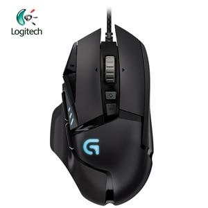 Image 1 - Logitech עכבר G502 גיבור משחקי עכבר עם גיבור מנוע 16K DPI LIGHTSYNC RGB לתכנות מתכונן עבור כל עכבר גיימר