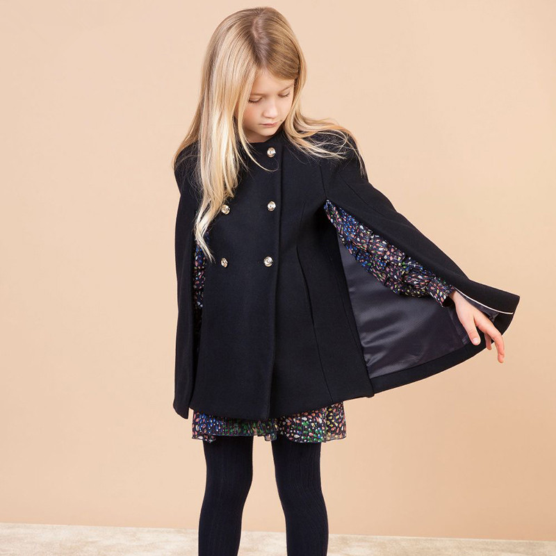 Adult and girl's wool coat kid's Stylish cloak stock is limited
