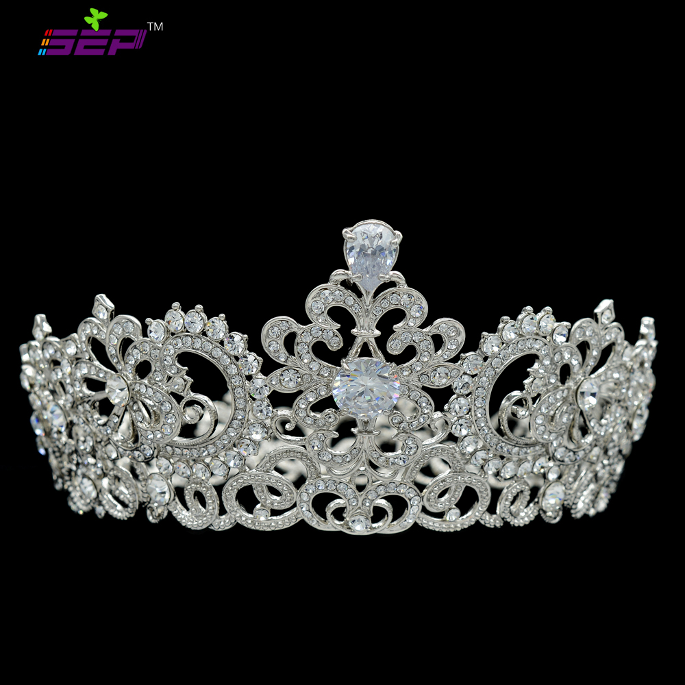Free Shipping Austrian Crystal Zircon Bride Wedding Women Tiara Crown Wedding Jewelry Hair Accessories Jewelry SHA8648