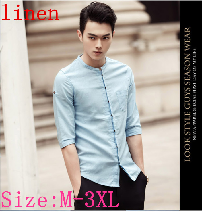 Buy 2015 summer style mens fitted shirts for Mens shirt collar styles