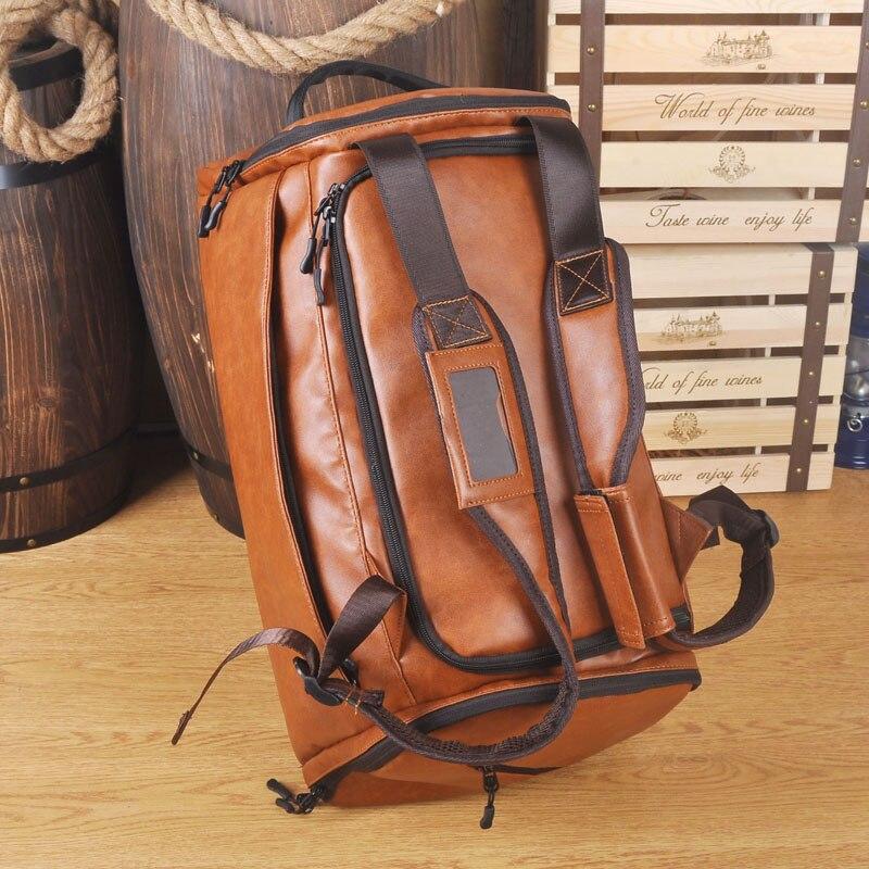 Homme vintage cuir voyage sac à dos hommes grand sac à dos sac de voyage en cuir sac à dos hommes Mochila Masculina hommes Bookbag Laptopbag
