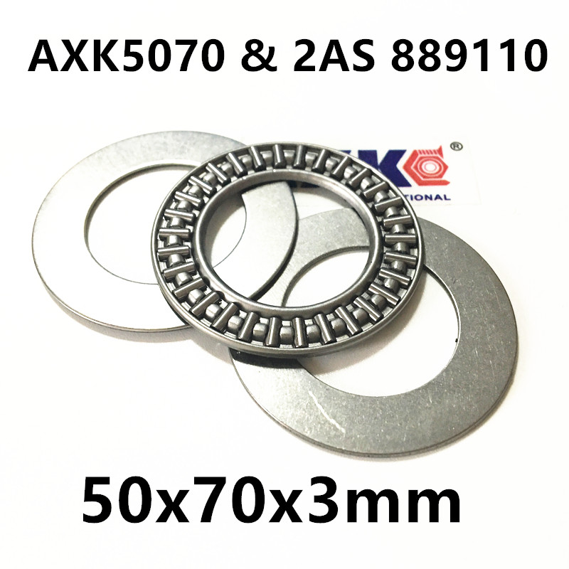 AXK5070 & 2AS 889110 Thrust Needle Roller Bearing & Washers 50x70x3mm na4910 heavy duty needle roller bearing entity needle bearing with inner ring 4524910 size 50 72 22