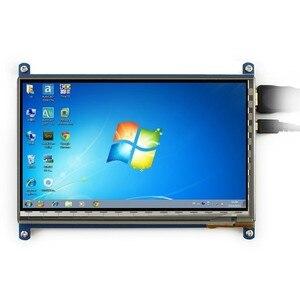 Image 2 - 7 inç ahududu pi dokunmatik ekran 1024*600 7 inç kapasitif dokunmatik ekran LCD HDMI arayüzü çeşitli sistemleri destekler arduino için