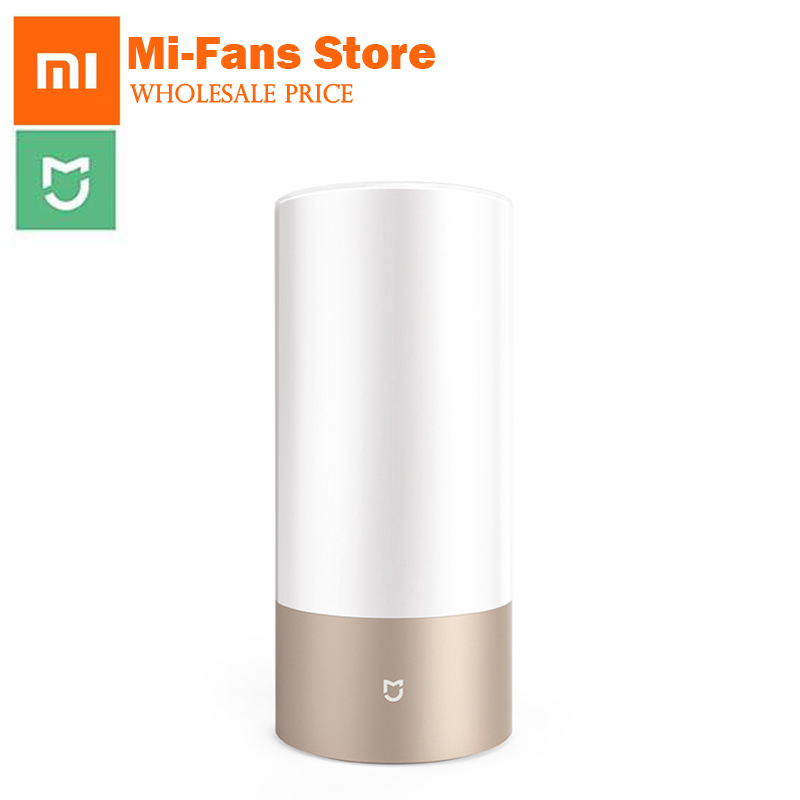 цены Original Xiaomi Yeelight Touch Control Indoor Smart Bed Lamp Night Lights Bedside LED Lamp16 Million RGB Support Smart Phone App