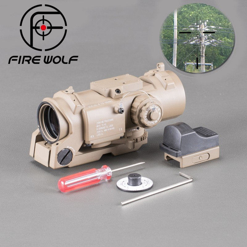 FIRE WOLF Huntings Riser Leapers 3 Luneta Para Red Dot Sight Scope With Military Rifle Optics Riflescope Ak 47 leapers accushot precision 3 12x44 scp3 um312aoiew