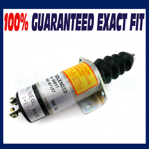 NEW FUEL SHUT OFF SOLENOID REPLACE FOR LISTER PETTER SOLENOID 366-07197 SA-3405T new alternator generators 382 08919 38208919 for lister petter