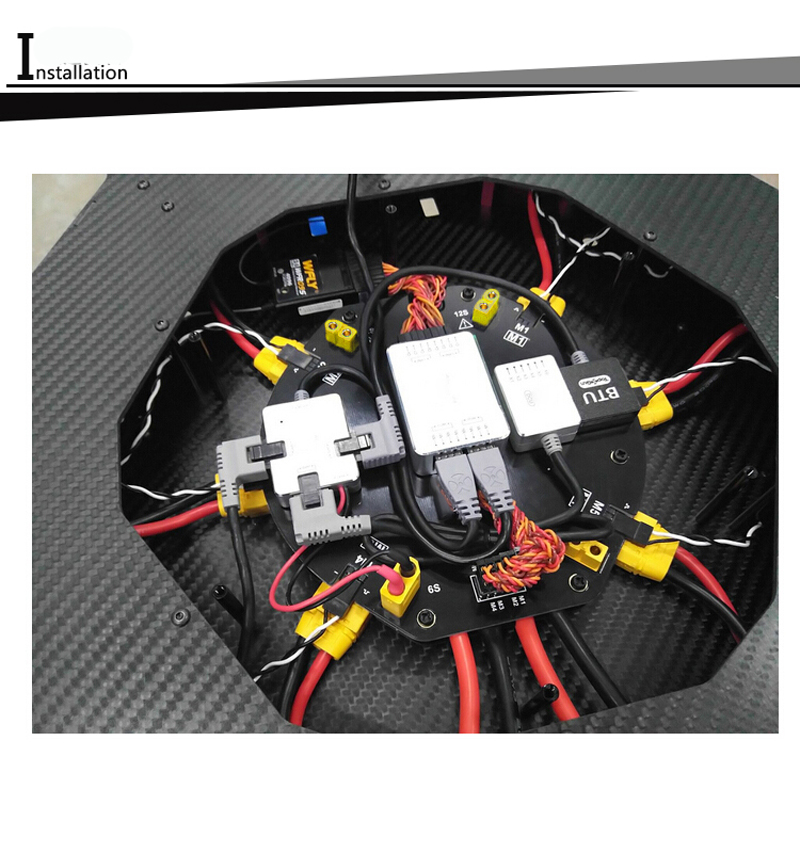 1 PC 12 S 480A Hoge Stroom Verdeelkast Power Distribueren Management Module voor Plant Bescherming UAV Drone DIY Onderdelen-in Onderdelen & accessoires van Speelgoed & Hobbies op  Groep 3