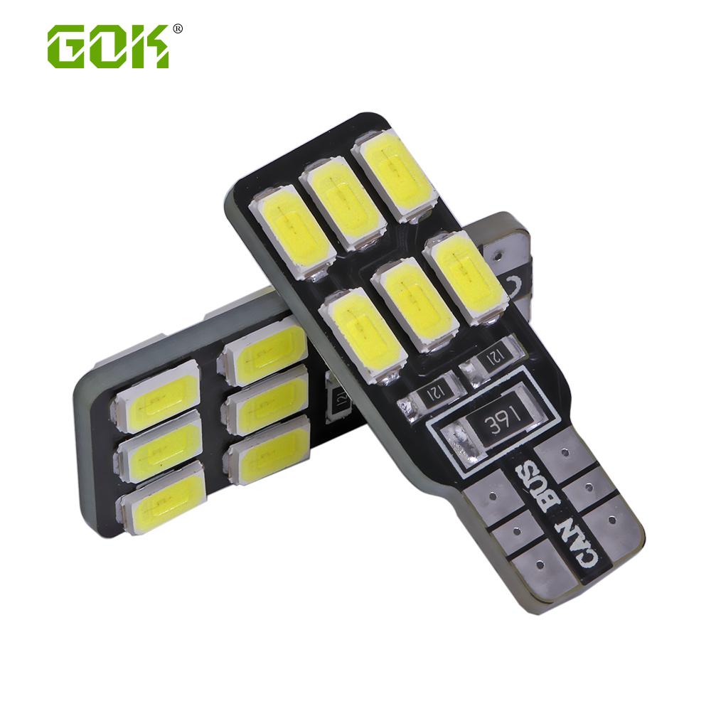 10pcs Error Free T10 Canbus Led w5w T10 led 158 168 194 5630 5730 t10 12smd SMD LED Car Canbus Replacement Light Lamp Bulbs 12v high t10 canbus 10pcs t10 w5w 194 168 5630 10 smd can bus error free 10 led interior led lights white 6000k canbus 300lm