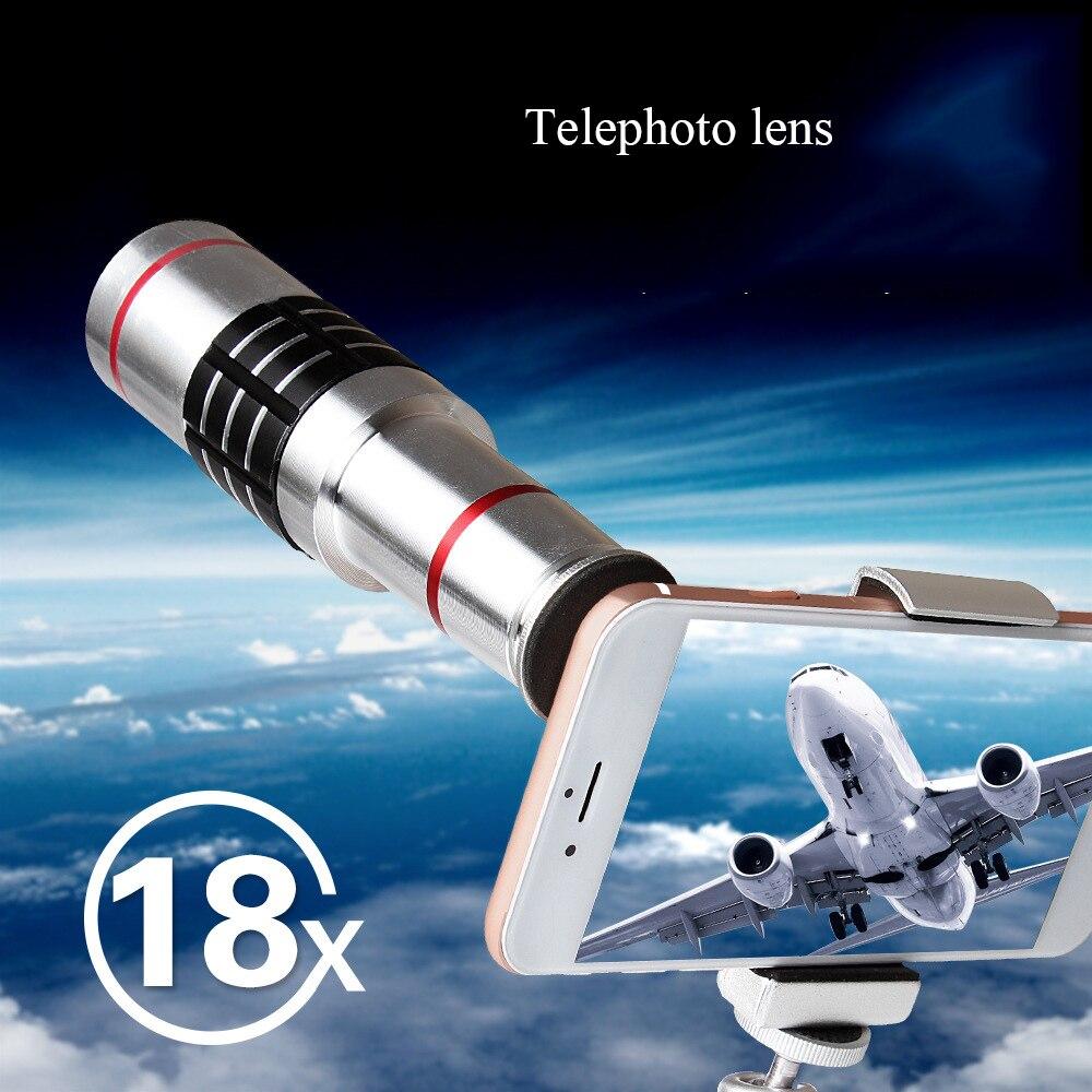 18X Telescope Zoom Mobile Phone Lens for iPhone X Samsung Smartphones universal