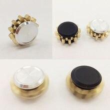 โลหะอยู่ไม่สุขมือปั่นทองเหลืองนิ้วของเล่นEDCโฟกัสGyroของขวัญออทิสติกสมาธิสั้นของเล่น