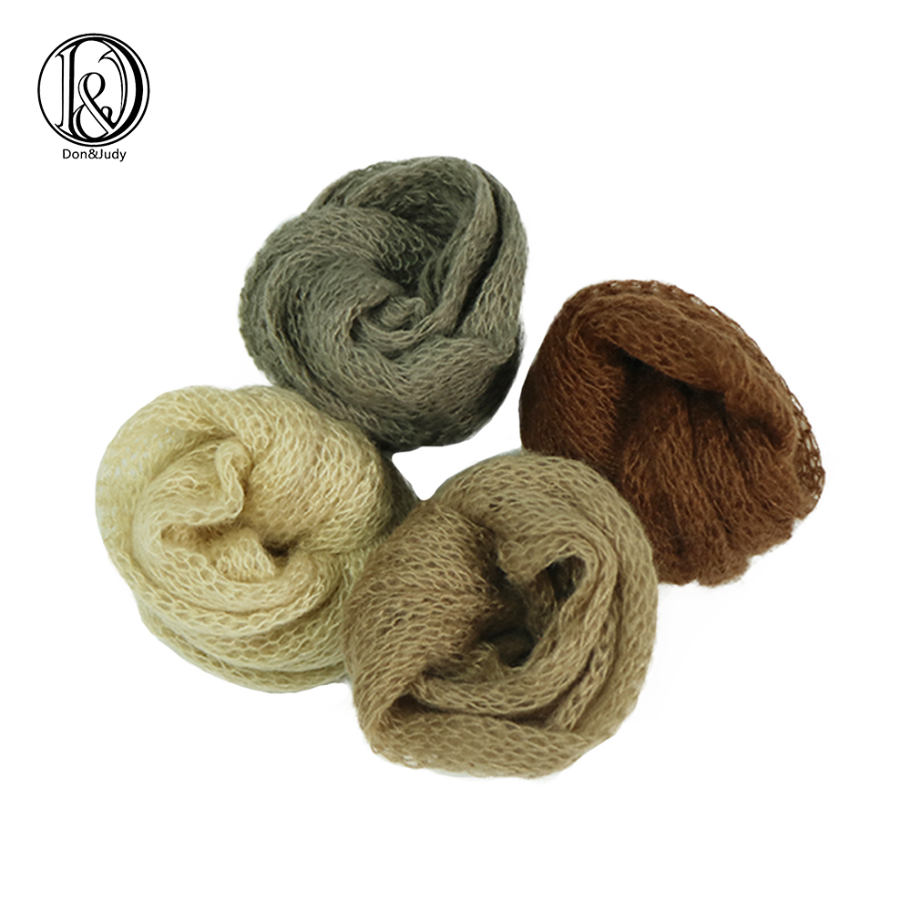 D&J 4pcs Lot Stretch Mohair Wrap Newborn Photography Props Baby Photo Shoot Accessories Photograph For Studio Fotografia 2019