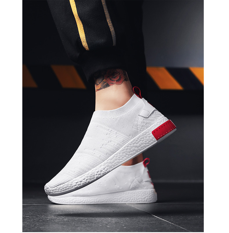 HTB1Rm3MqLiSBuNkSnhJq6zDcpXaX Thin Shoes For Summer White Shoes Men Sneakers Teen Shoes Without Lace Trend 2019 New Feel Socks Shoes tenis masculino chaussure