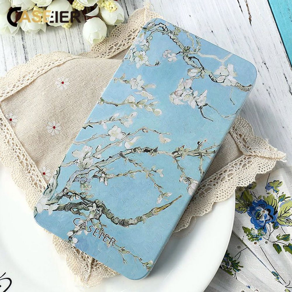 CASEIER Patterned Phone Cases Package Gift Box For Case High-quality Iron Metal Hard Holiday wrap Luxury Pouch